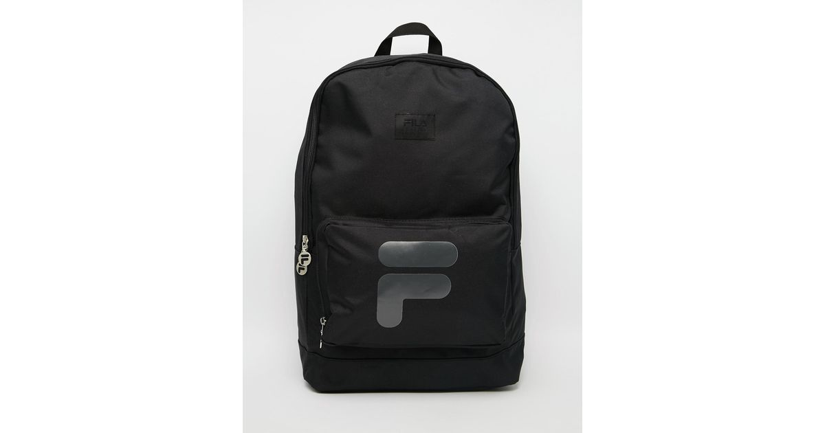 Lyst - Fila Black Line Vaneto Backpack in Black