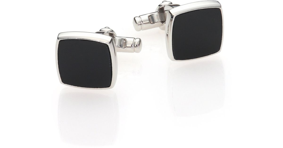 Dunhill Sterling Silver Lapis Square Cuff Links fHm9oa4yU