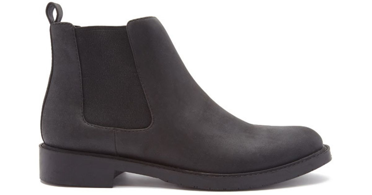 forever 21 faux leather chelsea boots in black for