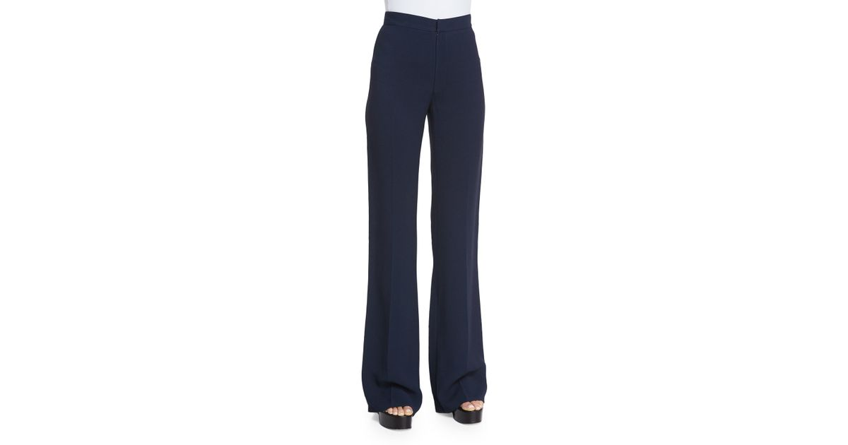 Derek Lam High-waist Flare-leg Trousers In Blue (NAVY