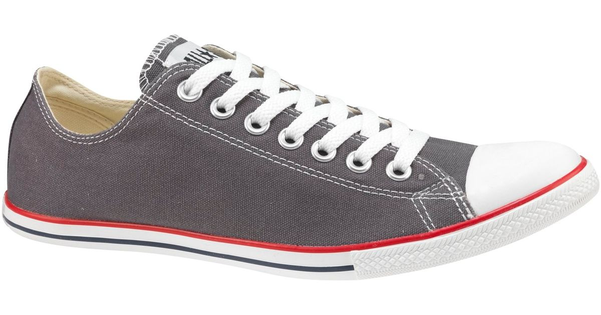 974b91c9ab286 ... store converse all star slim ox chuck taylor trainers charcoal in gray  for men lyst 4cac6
