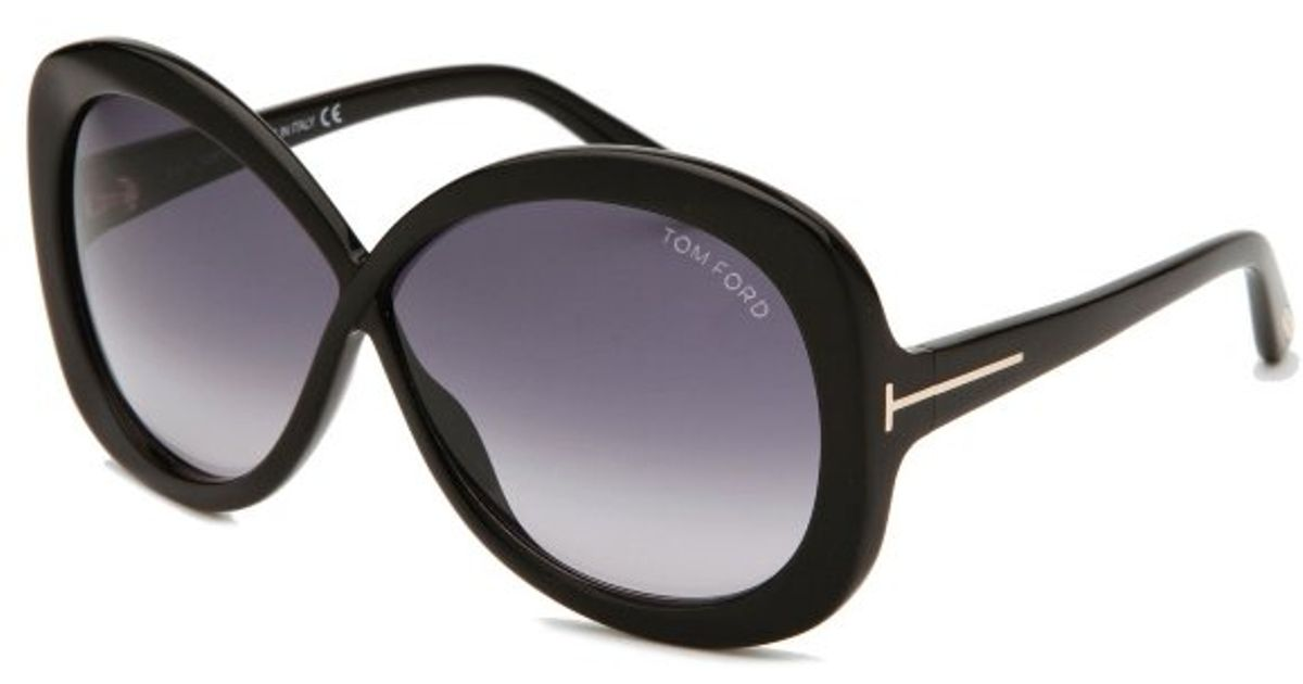 09469c390a96 Lyst - Tom Ford Margot Butterfly Black Sunglasses in Black