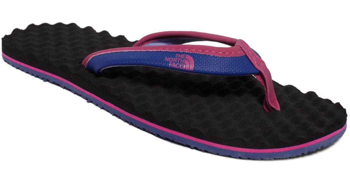 34dd63b080ad Lyst - The North Face Womens Base Camp Mini Flip Flops in Blue