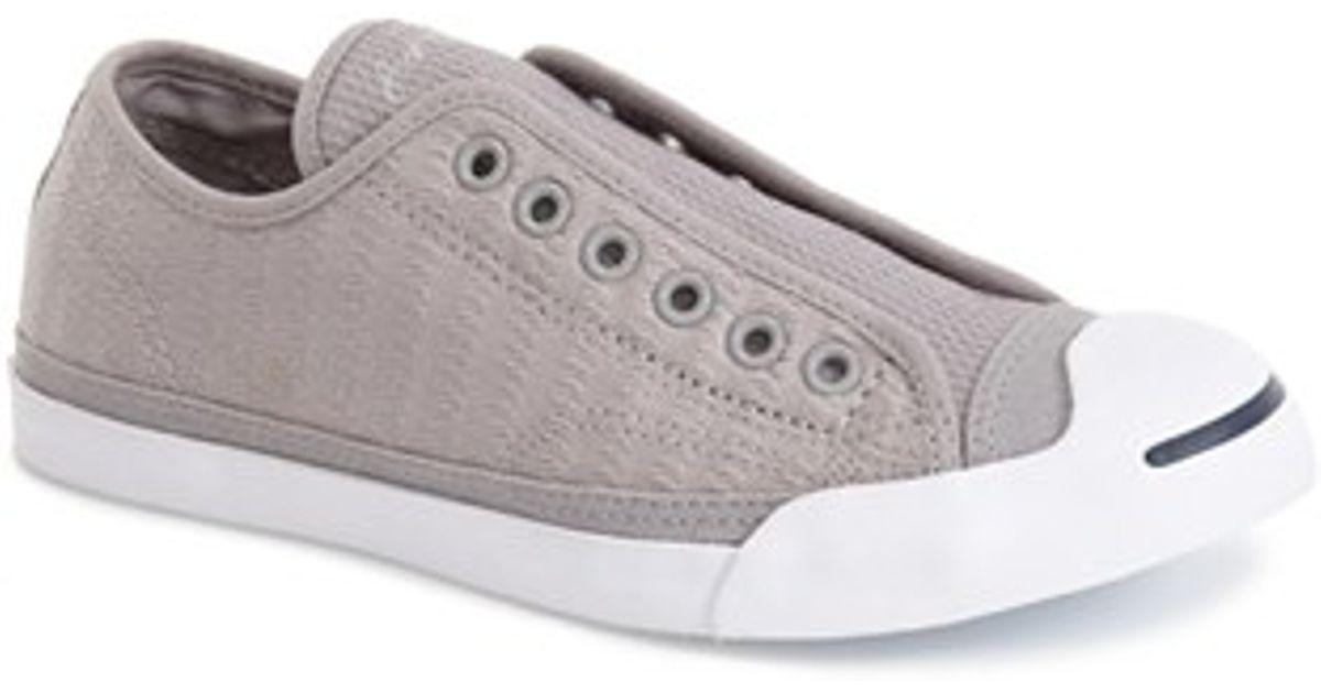 Lyst - Converse  jack Purcell  Garment Dye Low Top Sneaker in Gray df372328b740