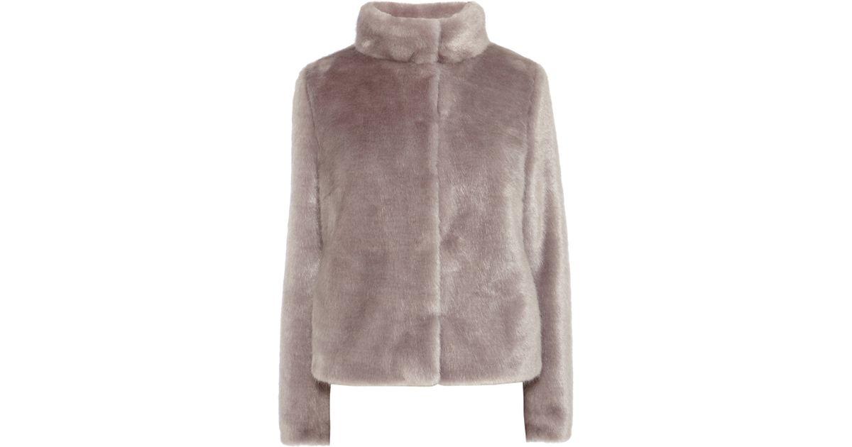 Coast Oslo Faux Fur Coat in Gray | Lyst