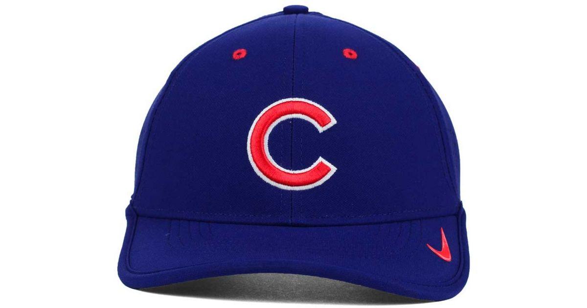 finest selection 78e2a aaf40 Nike Chicago Cubs Vapor Swoosh Adjustable Cap in Blue for Men - Lyst