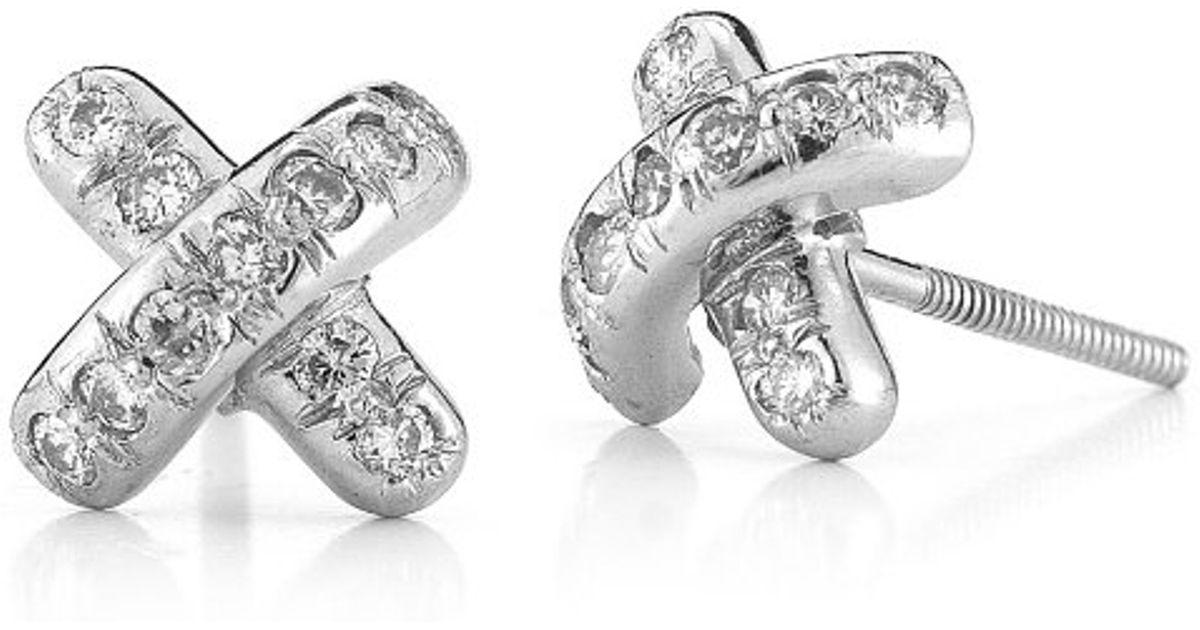 266e3536e Tiffany X Earrings Tiffany And Co Paloma Pico Diamond 18 Karat ...