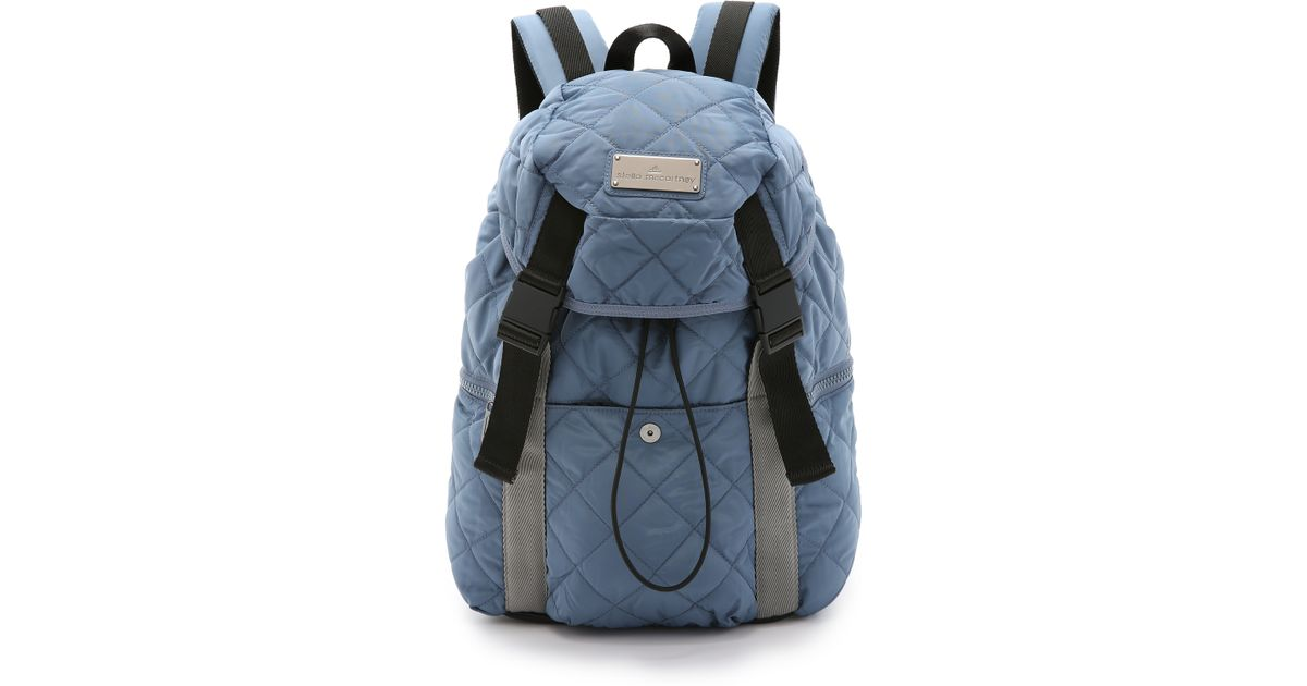 30be5f599aee Lyst - adidas By Stella McCartney Quilted Backpack - Blue Grey gun Metal in  Blue