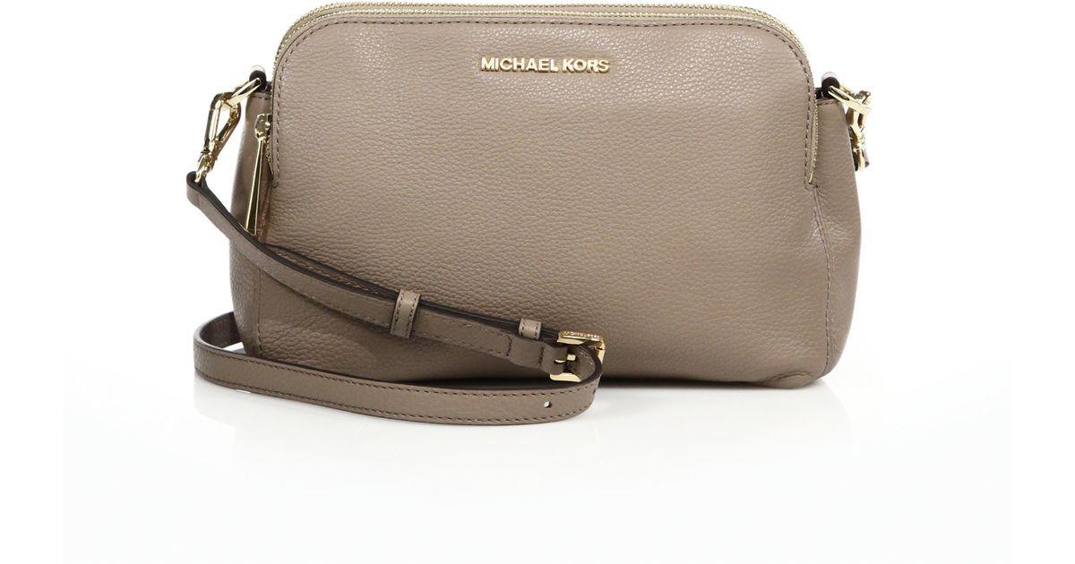48982105b62fd7 michael kors bedford medium double zip messenger bag fragrance ebay ...