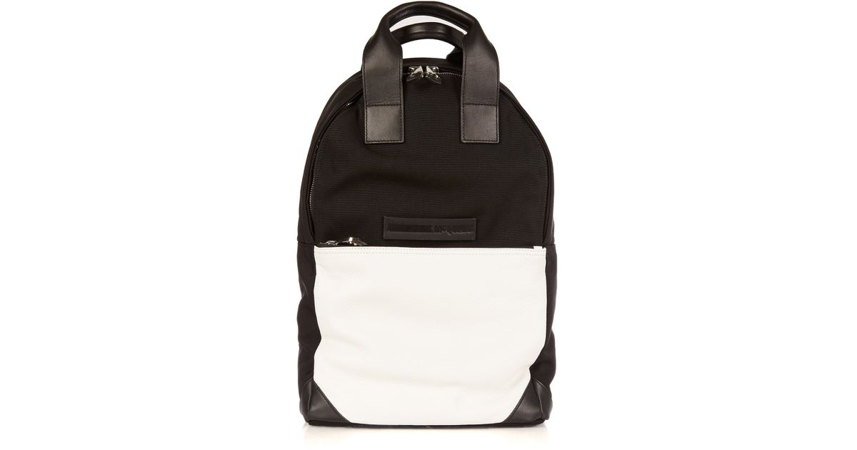 Lyst For Men Black Mcq Canvas Leather And Tote Backpack In nwwHUvzqx