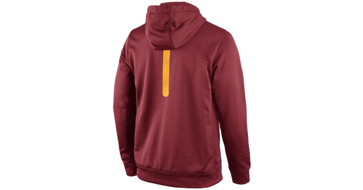 Lyst - Nike Men s Usc Trojans Sideline Ko Hoodie in Purple for Men 3fa7e798b