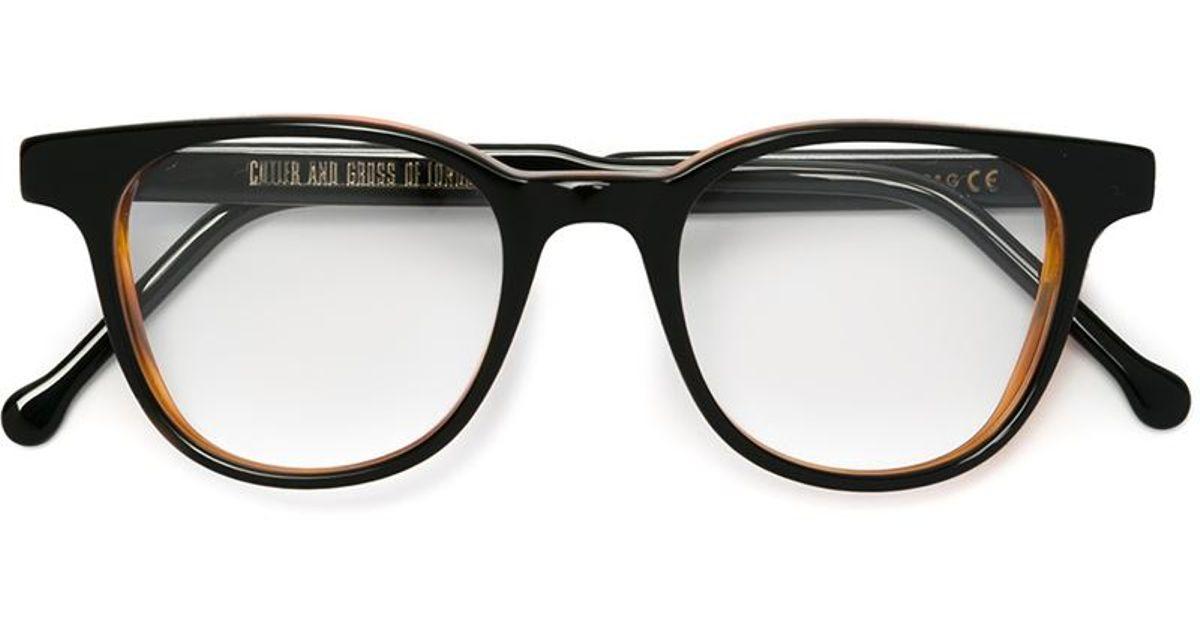 Cutler & gross Rectangular Frame Glasses in Black Lyst