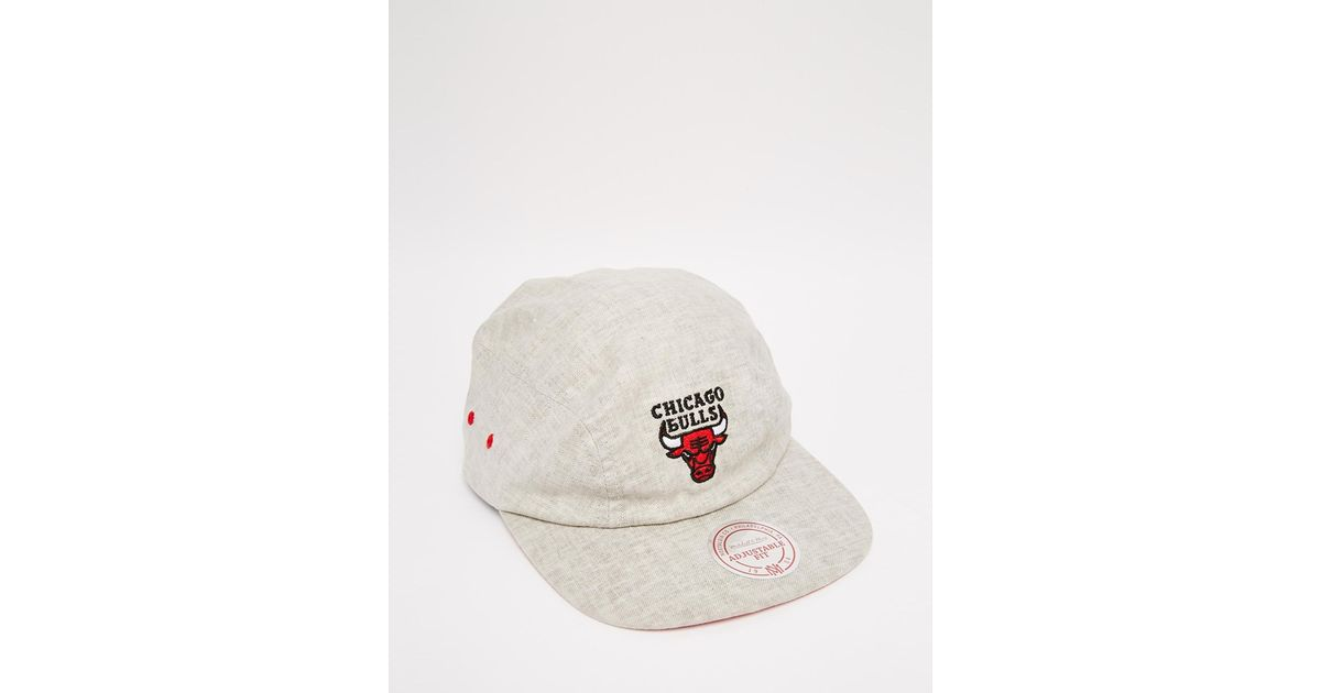 Lyst - Mitchell   Ness 2 Panel Military Chicago Bulls Snapback Cap in Gray  for Men a2cb9cdf84c