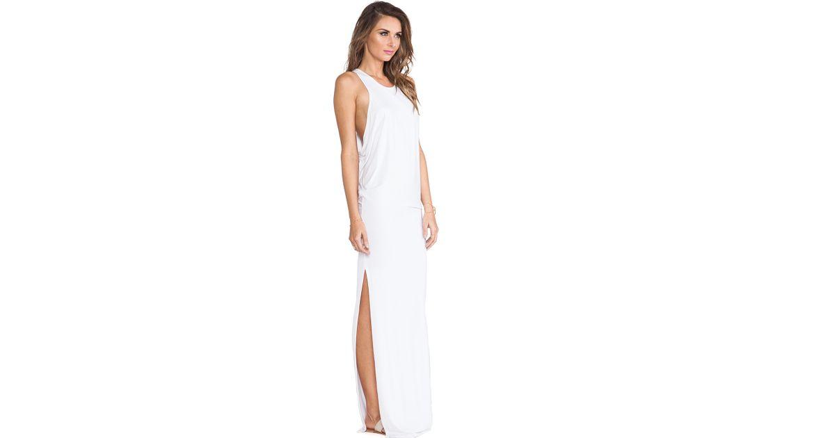 b7d373a5a1 Mikoh Swimwear Swimwear Mavericks High Neck Maxi Dress in White - Lyst