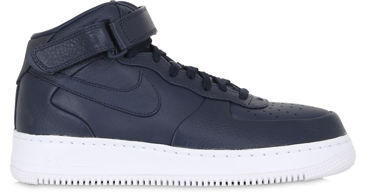 Nike Lab Air Force 1 Mid Top Sneakers In Black For Men