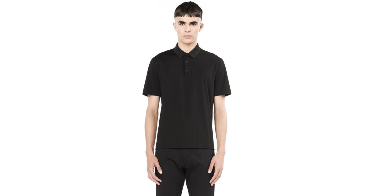 t by alexander wang short sleeve polo shirt in black for men lyst. Black Bedroom Furniture Sets. Home Design Ideas