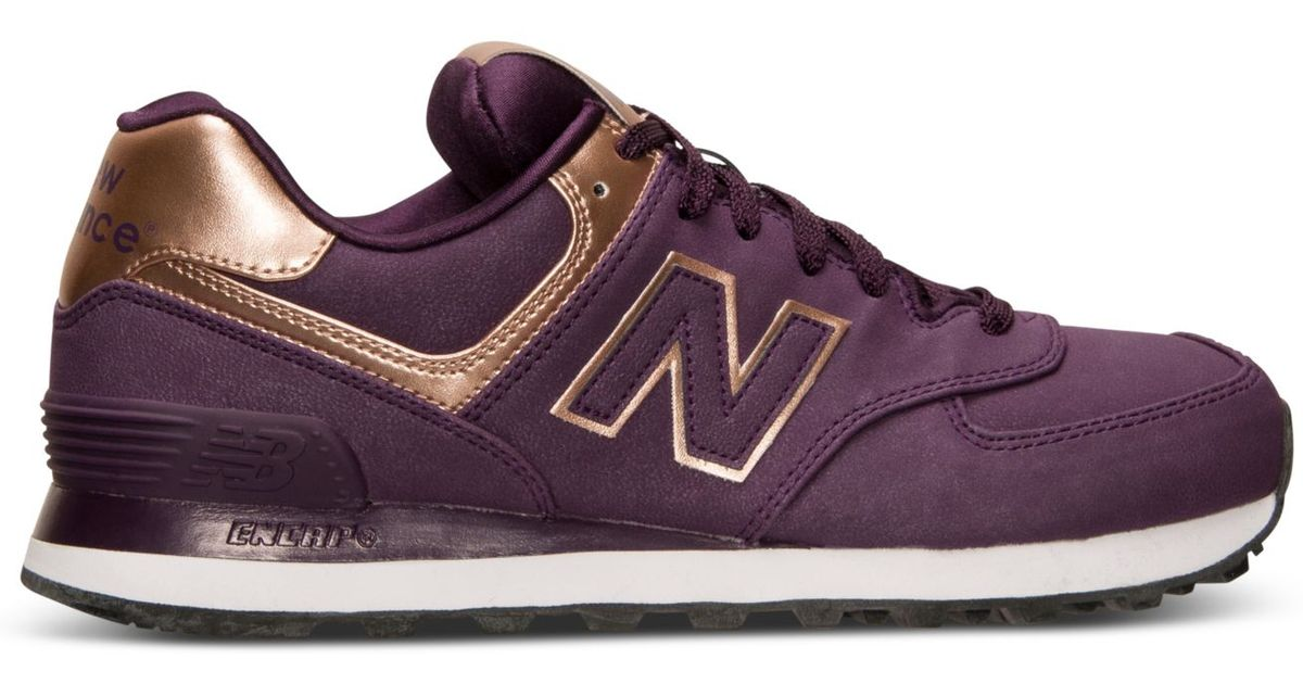 New Balance Purple Women'S 574 Precious Metals Casual Sneakers From Finish Line