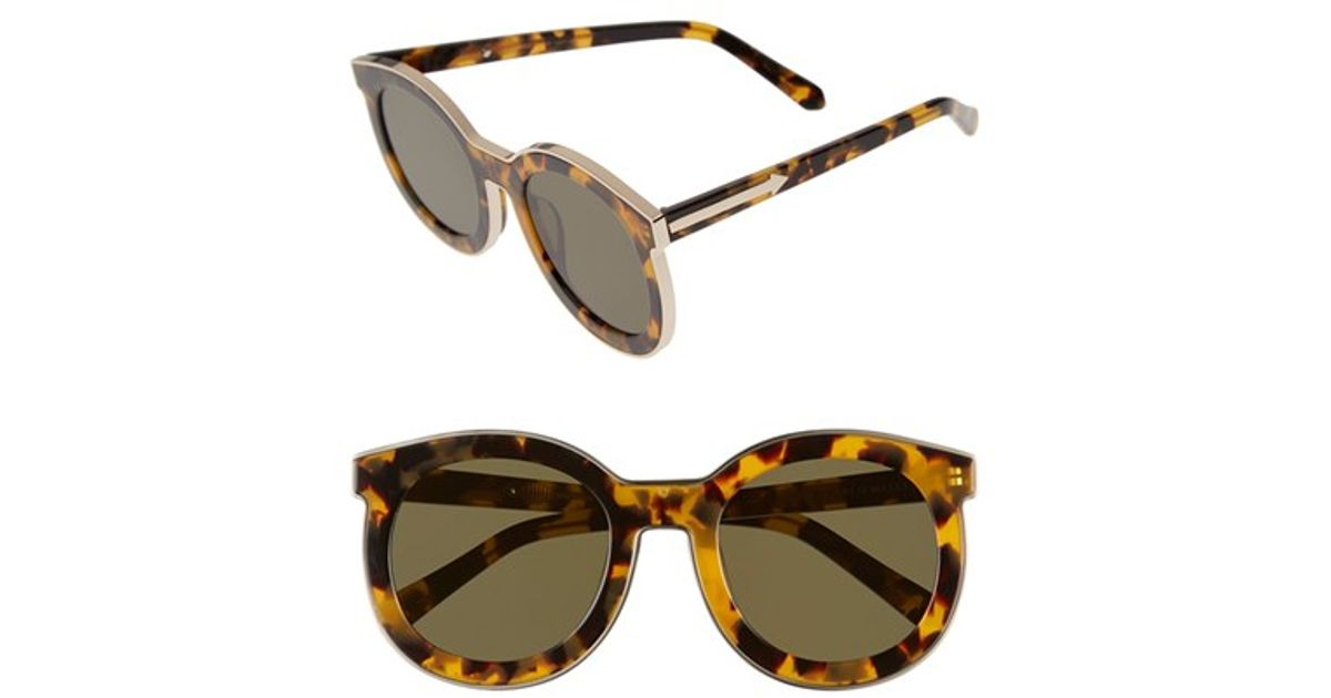 ee250b453c4 Lyst - Karen Walker  super Spaceship - Arrowed By Karen  52mm Sunglasses -  Crazy Tort  Gold in Brown