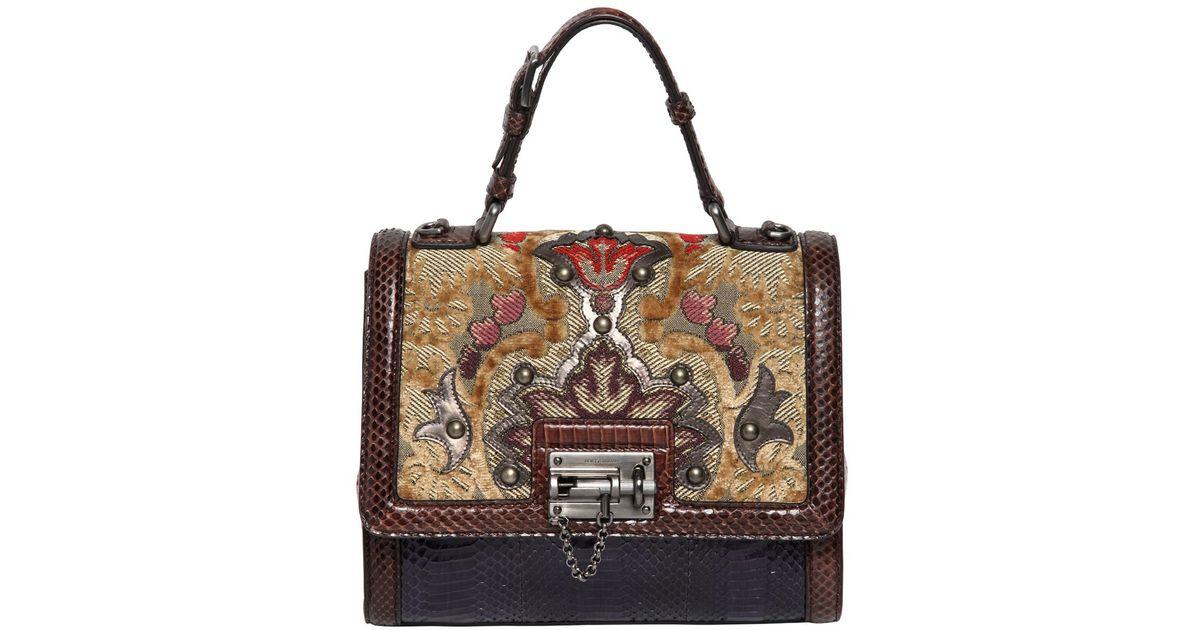 b5d006da2cfa ... Lyst - Dolce Gabbana Monica Brocade Ayers Top Handle Bag first rate  aa641 d835b ...