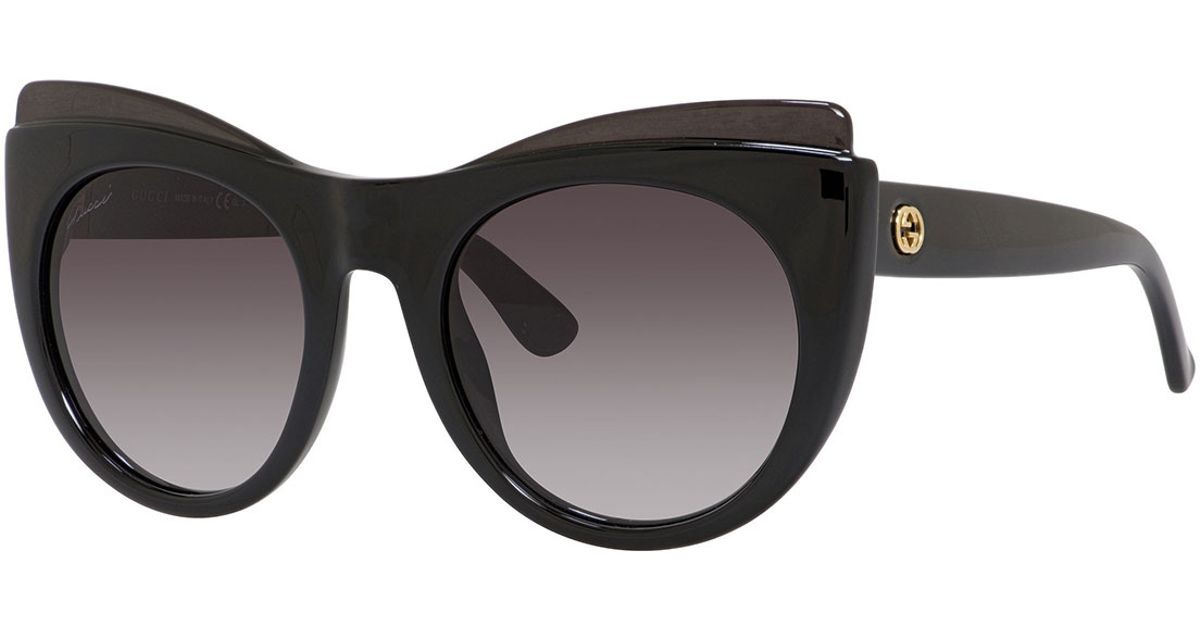 Gucci Cat Eye Sunglasses  gucci raised brow cat eye sunglasses in black lyst