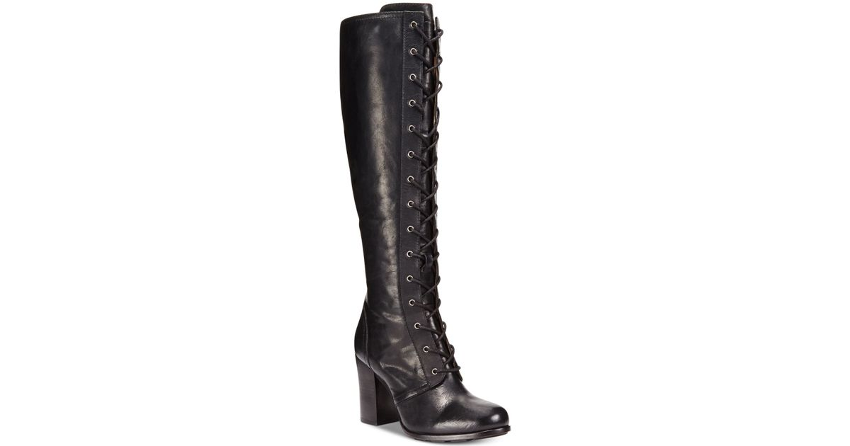 Lyst Frye Womens Parker Tall Laceup Dress Boot In Black