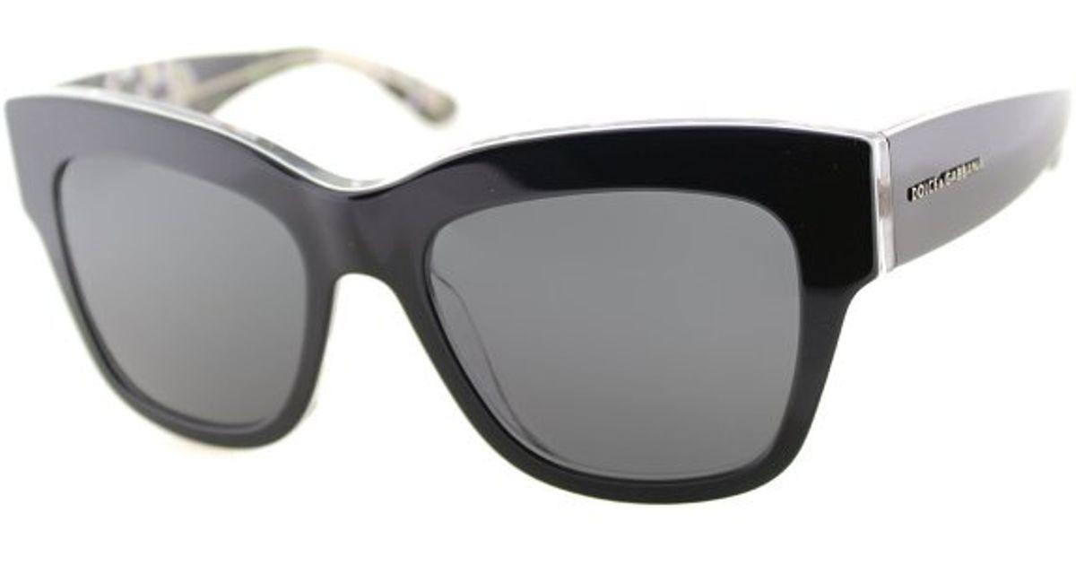 3af228bbebbc Lyst - Dolce   gabbana Dolce And Gabbana Dg 4231 2840 87 Black On Black  Peach Flowers Fashion Plastic Sunglasses in Black