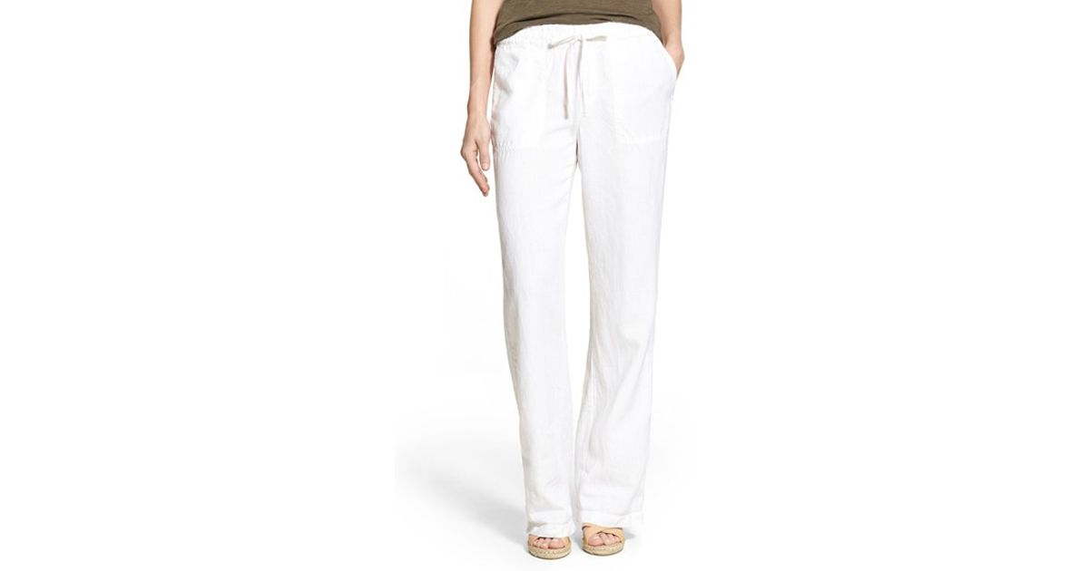 Home Products Women's Bottoms Pants % Linen Drawstring Harem Pant in White. % Linen Drawstring Harem Pant in White. $ Size: Clear: Add to cart % Linen Pant with Drawstring Tie in White $ $ % Linen Pant with Drawstring Tie in White. $ $