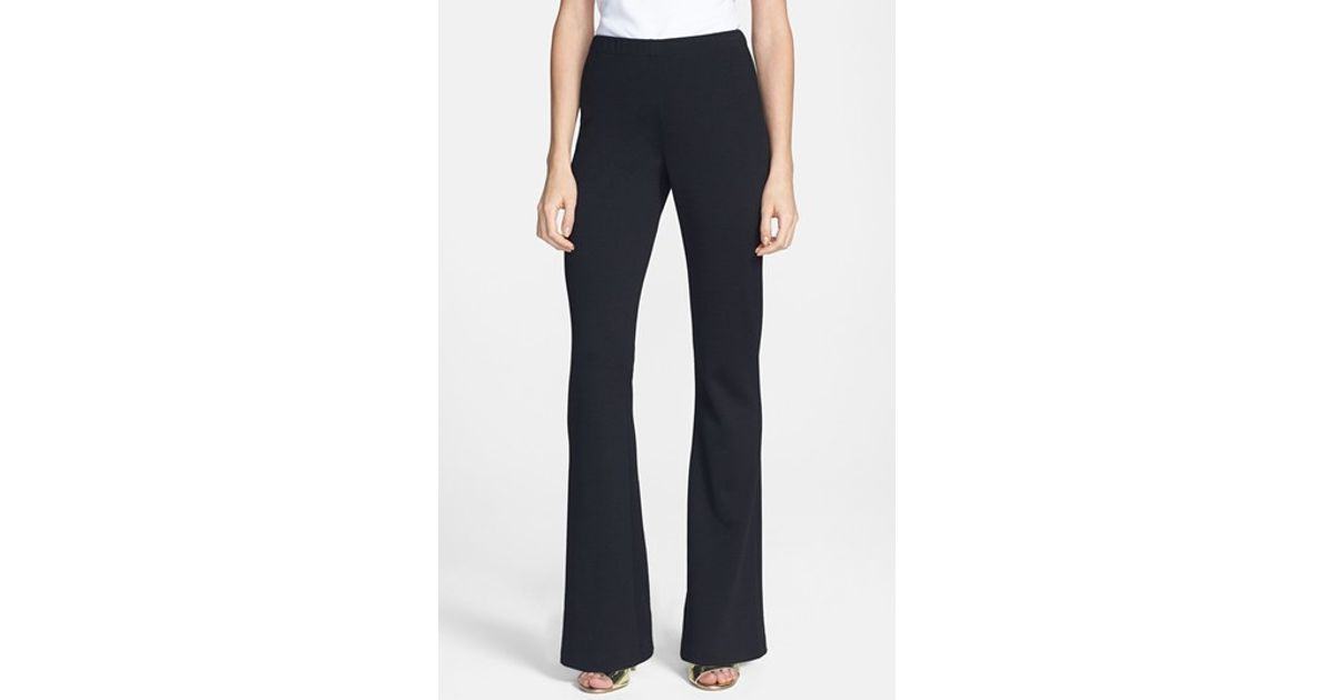 e47cf833d74ea Lyst - St. John 'kasia' Bootcut Milano Knit Pants in Black