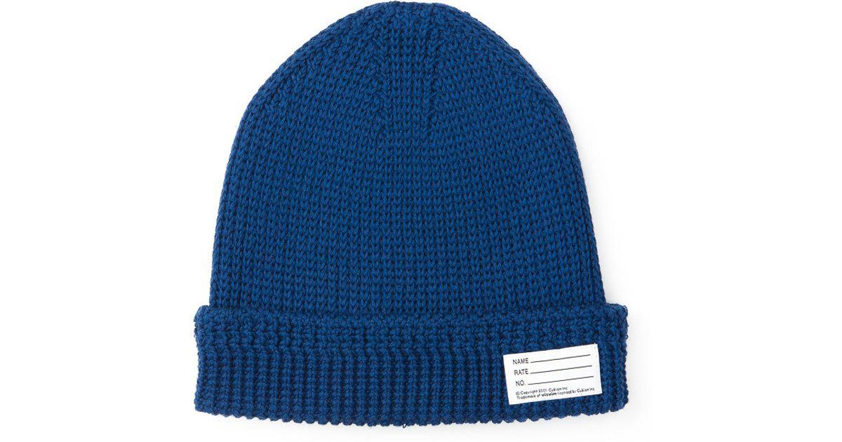 knitted beanie - Blue Visvim x12HJ