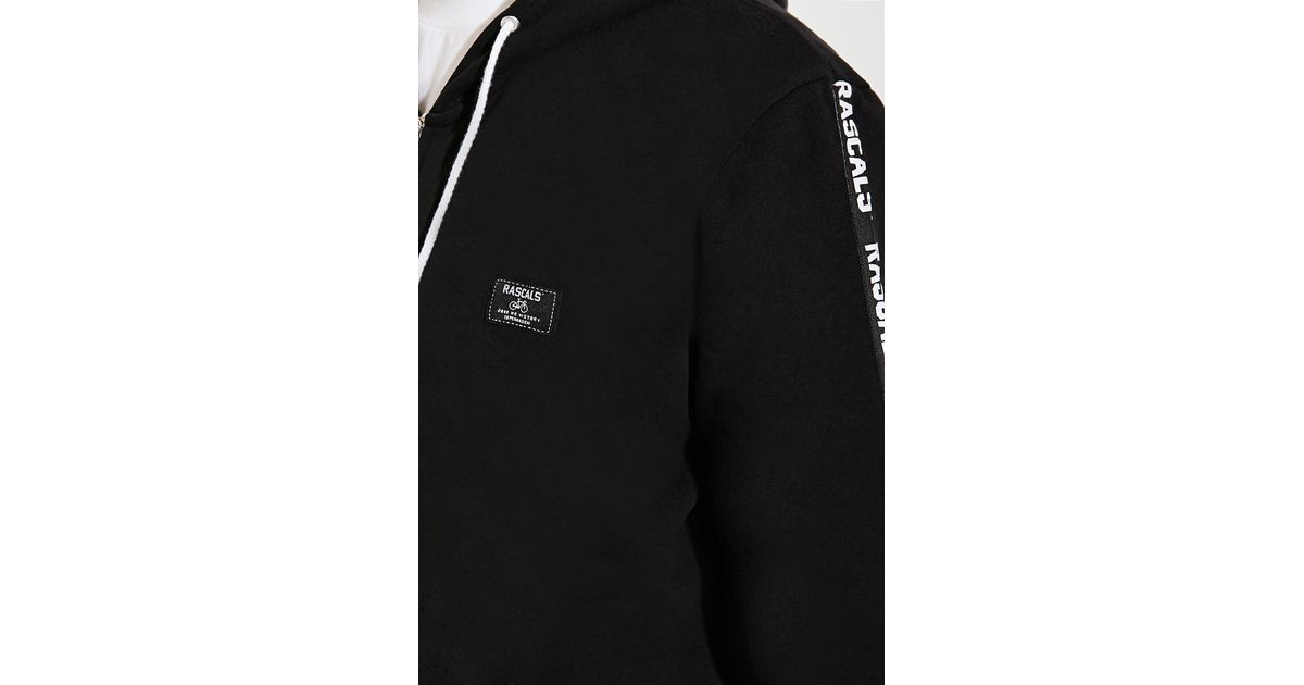 b7688bb7750d78 Lyst - Forever 21 Rascals Band Zip Hoodie in Black for Men