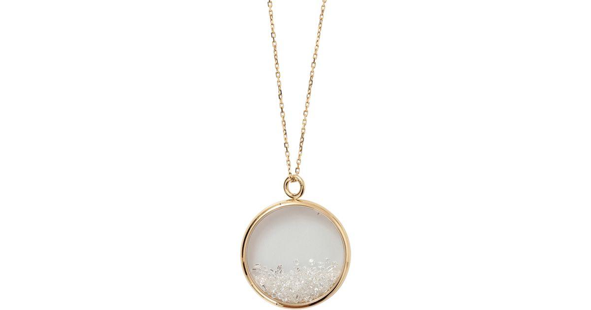 Lyst aurelie bidermann large diamond chivor medallion necklace in lyst aurelie bidermann large diamond chivor medallion necklace in metallic aloadofball Gallery