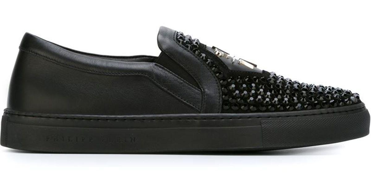 eacd50498e Philipp Plein 'acting Crazy' Slip-on Sneakers in Black for Men - Lyst