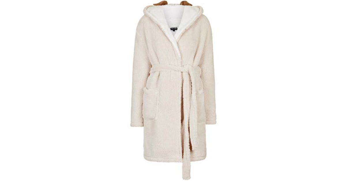 TOPSHOP Pug Robe in Natural - Lyst b38547650