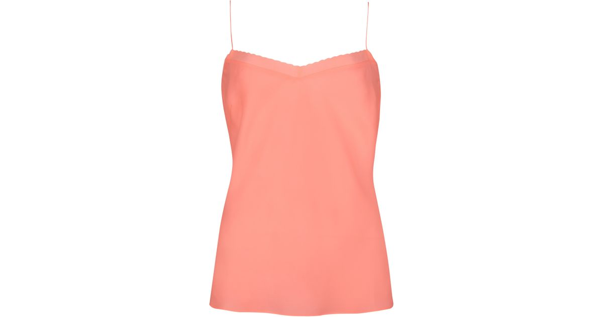 0f2ddb42f4452 Ted Baker Tissa Scalloped Edge Camisole in Pink - Lyst
