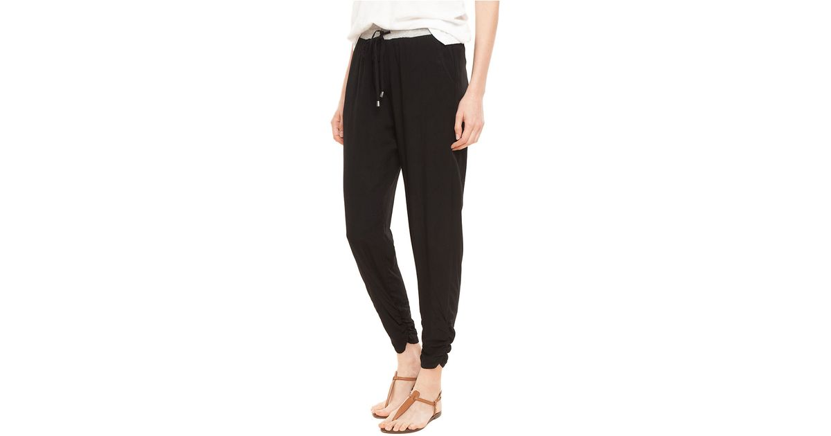 90e1416d591bf Splendid Ruched Rayon Pants in Black - Lyst