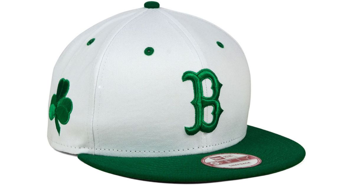 separation shoes 7e5d9 a1a17 ... new era 20607953 mlb 2015 kelly green st. pattys ac 59fifty cap 0cedd  67f3d  germany lyst ktz boston red sox st. pat 9fifty snapback cap in white  for ...