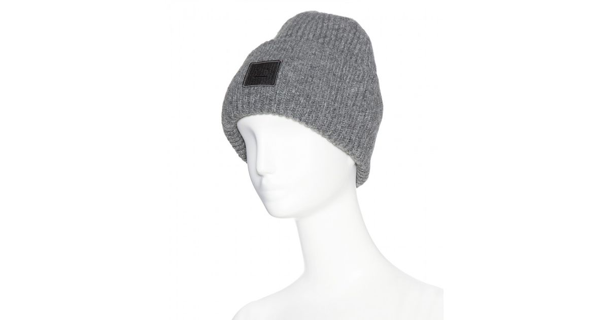 Lyst - Acne Studios Pansy Wool Hat in Gray 48d35dcadbb
