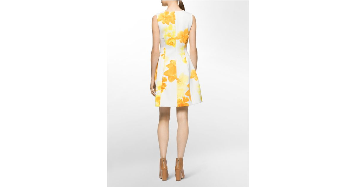 Lyst Calvin Klein White Label Sleeveless Floral Print