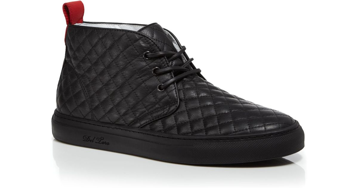 Del toro Quilted Nappa Leather Chukka Sneakers in Black for Men   Lyst : del toro quilted chukka - Adamdwight.com