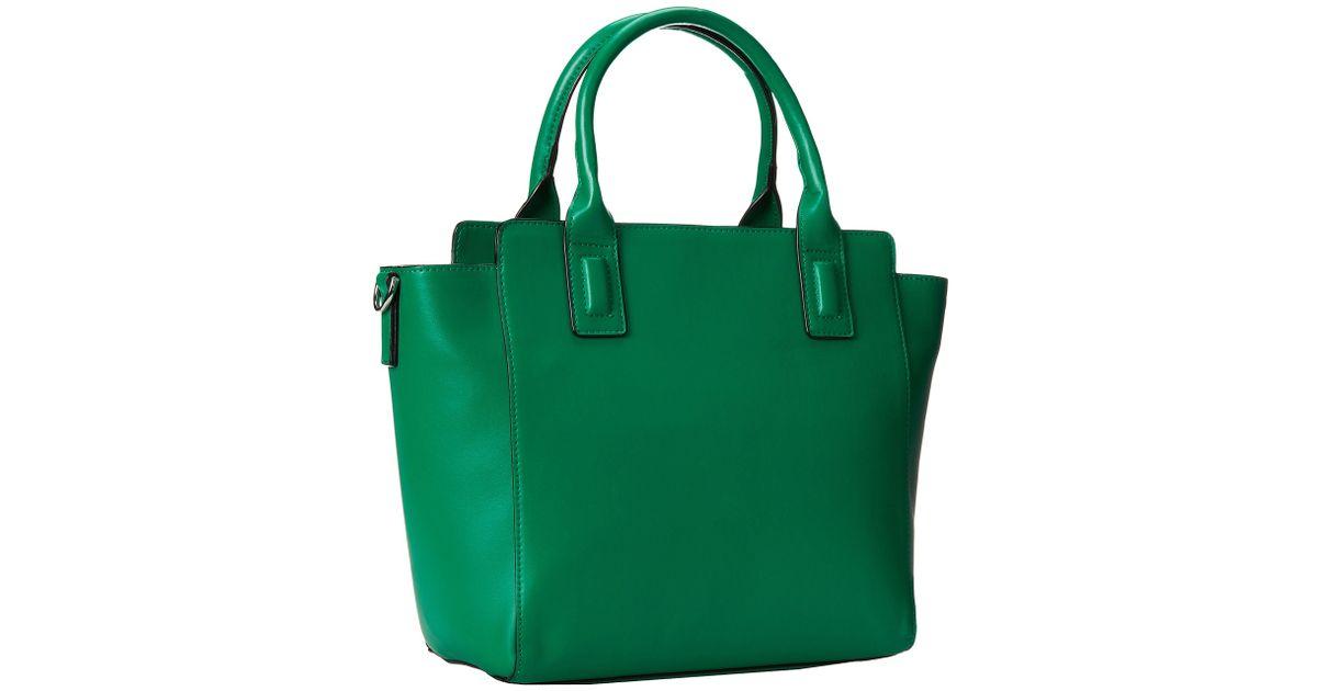 3df700c8b6 Lyst - Vera Bradley Solid Pu Handbag in Green