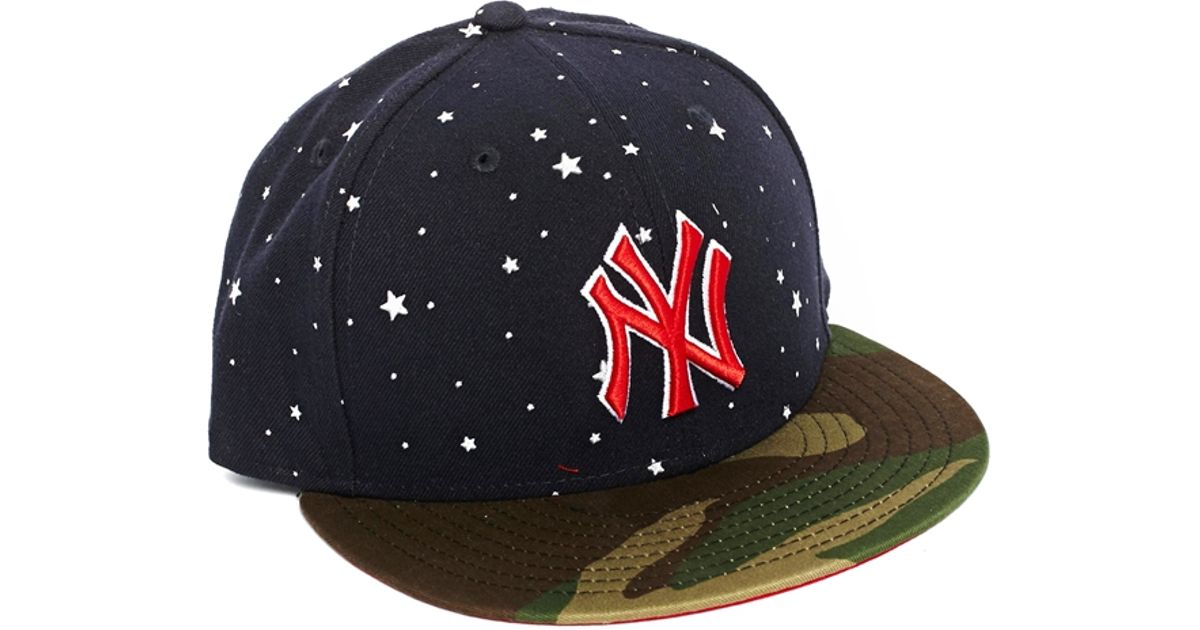 5e63adc0 ... usa ktz 59fifty new york yankees cap in american mash up in blue for men  lyst