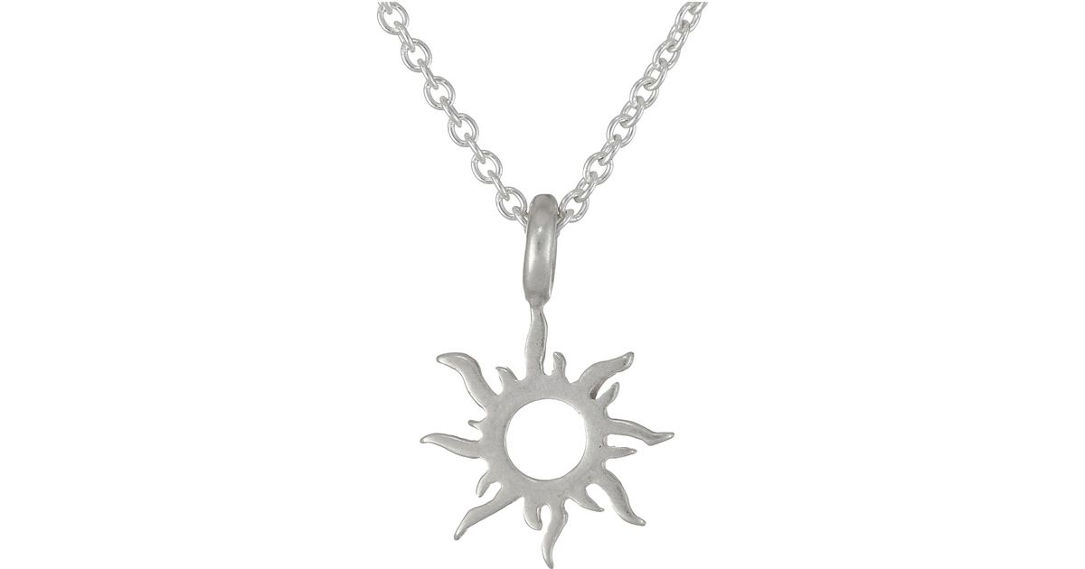 Lyst dogeared good vibes only radiant sun necklace in metallic mozeypictures Choice Image