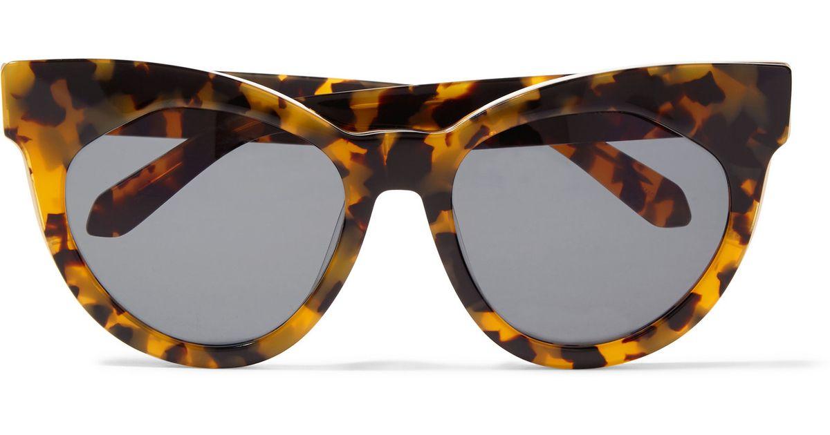 b22248bed037 Karen Walker Starburst Cat-eye Acetate Sunglasses in Black - Lyst