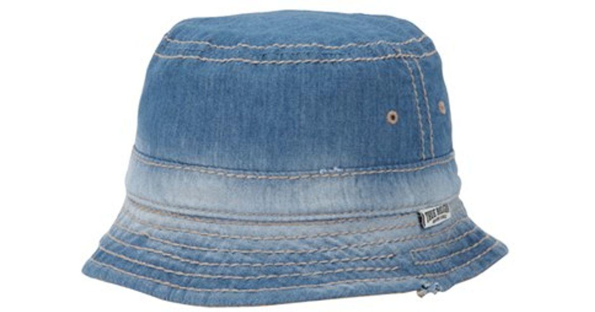 True Religion - Blue Reversible Denim Bucket Hat for Men - Lyst 98ea0650d19