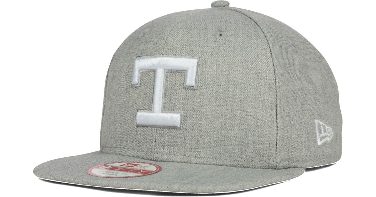 info for 1d176 1ca37 ... clearance lyst ktz texas rangers heather c dub 9fifty snapback cap in  gray for men d28e3