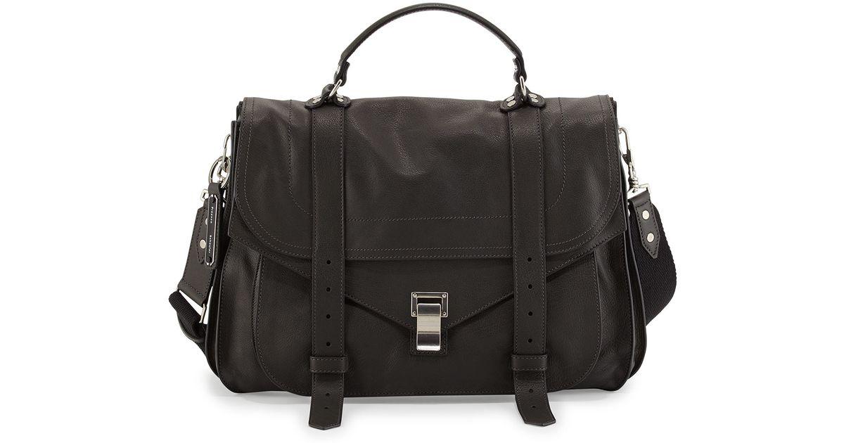 Proenza schouler Extra-large Buffalo Messenger Bag in Gray for Men ...