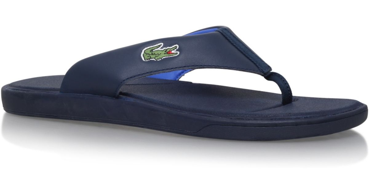 b187faf67 Lacoste L30 Flip Flop in Blue for Men - Lyst