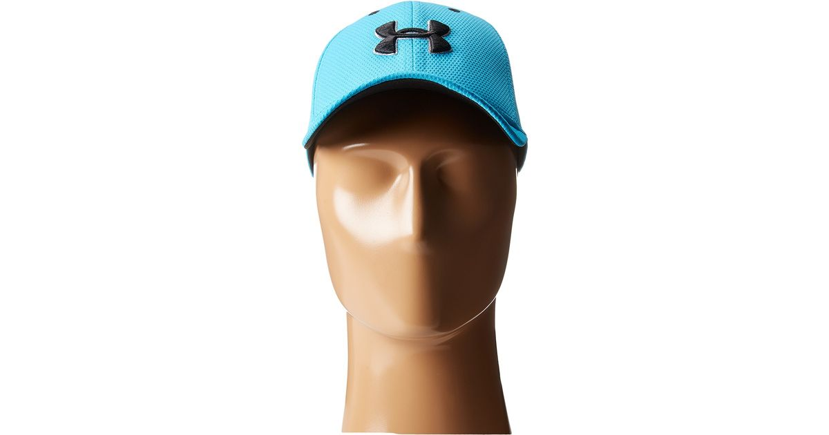 Lyst - Under Armour Ua Blitzing 2.0 Stretch Fit Cap (youth) in Blue for Men ac6fb1bec424