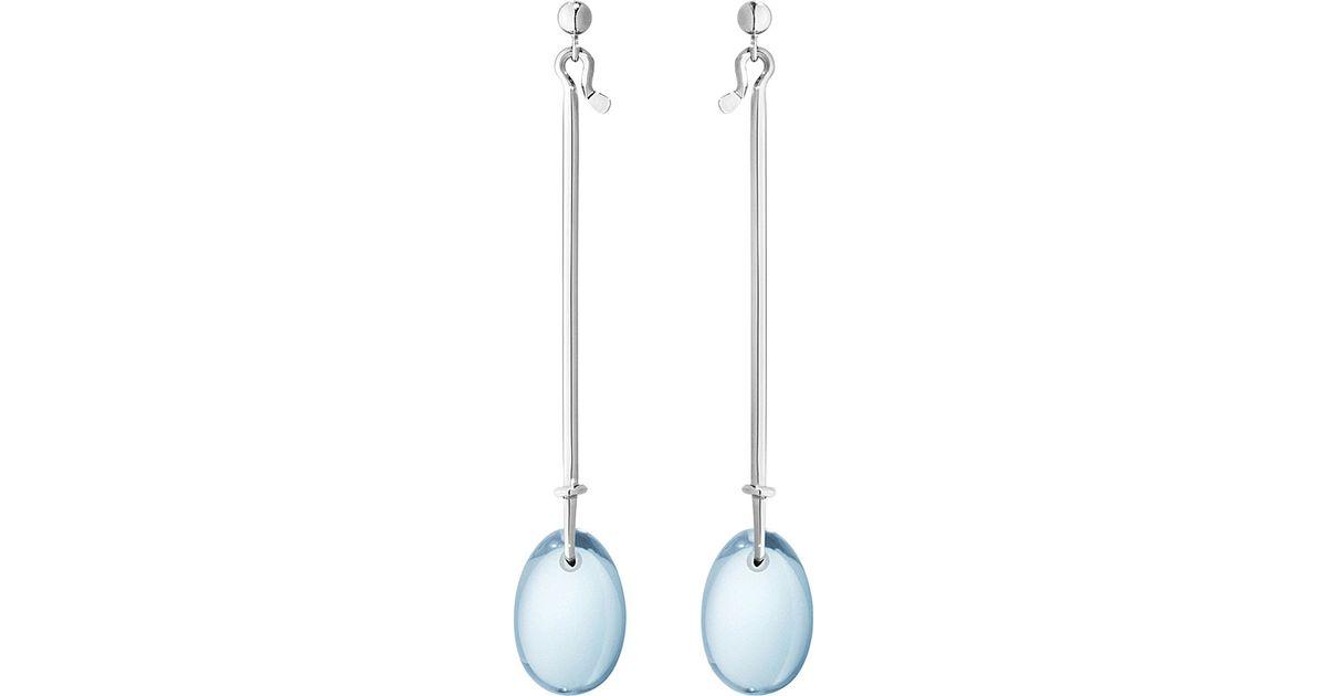 32927752b Georg Jensen Dew Drop Sterling Silver And Blue Topaz Earrings in Blue - Lyst
