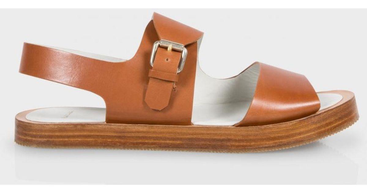 475ea709dbacc2 Paul Smith - Brown Women s Tan Leather  ilse  Platform Sandals - Lyst
